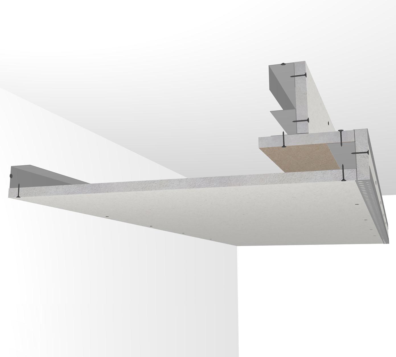 Półka Sufitowa Na Oświetlenie Led Slim Szer 25cm